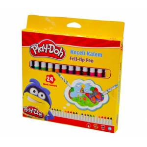 Play-Doh 24 Renk Keçeli Kalem 5 mm