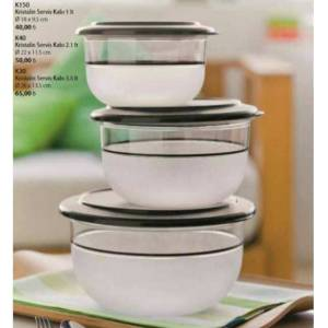 TUPPERWARE KRISTALIN 3 LU SET 3.5 LT 2.1 LT VE 1.1 LT