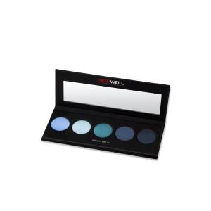 NEW WELL DERMA COVER PALETTE EYESHADOW BLUE TONES - 5 COLOURS