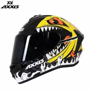 AXXIS DRAKEN VIPERFISH GLOSS FLOUR ORANGE FULL FACE KAPALI KASK 2019 YENİ ÜRÜN