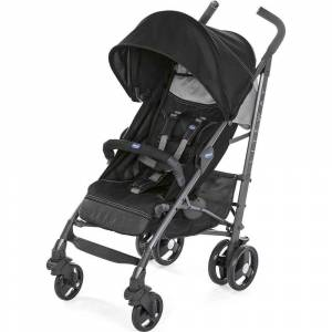 Chicco Lite Way 3 Top Baston Bebek Arabası Jet Black
