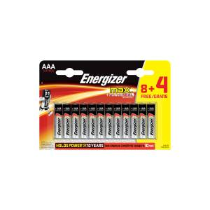 Energizer Alkaline Max Power Seal 8+4 AAA İnce Kalem Pil