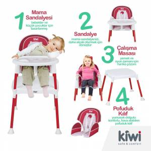 Kiwi Safe&Comfort 3 IN 1 Multi Mama Sandalyesi