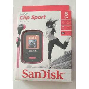 SanDisk Clip Sport 8GB MP3 Player Pembe