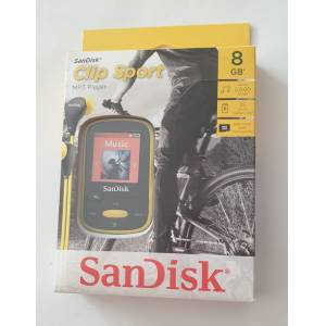 SanDisk Clip Sport 8GB MP3 Player Sarı