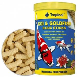 Tropical Koi Goldfish Basic Sticks Pond Yem 1 Lt