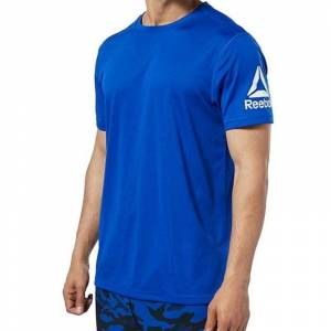 Reebok Wor We Comm Tech T-Shirt - Mavi MEDIUM