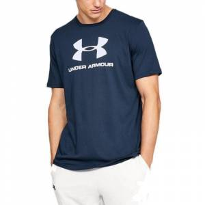 Under Armour Sportstyle Logo T-Shirt Lacivert MEDIUM