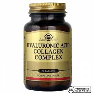 Solgar Hyaluronic Acid  Collagen Complex 30 Tablet AROMASIZ