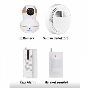 Angeleye Ks-511 Full Hd Wifi Ev ve Bebek İp Kamera 4in1 Full Set