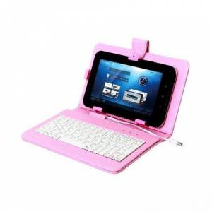 Everest Kb-Tab07 Pembe 7 Mini Usb Türkçe Q Klavye + Tablet Pc Kılıfı