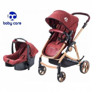 Baby Care BC-655 prestij travel sistem bebek arabası - bordo