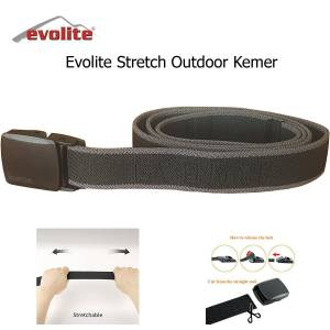 Evolite Stretch Outdoor Kemer Siyah 135 cm
