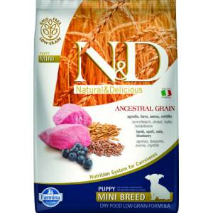 N&D LOW KUZU & YABAN MERSİNİ PUPPY MINI 7 KG
