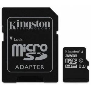 Kingston Micro SDHC Canvas Select 80R CL10 UHS-I Hafıza Kartı+ SD Adapter 32GB SDCS-32GB