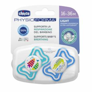 Chicco Physio Light Silikon Damaklı Emzik 2li Erkek 16-36 Ay