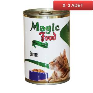 Magic Food Premium Gurme Kedi Konservesi 415 Gr (3 ADET)