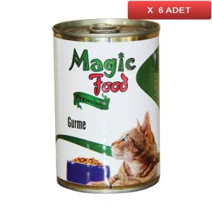 Magic Food Premium Gurme Kedi Konservesi 415 Gr (6 ADET)