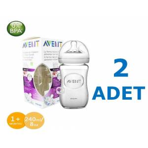 PHİLİPS AVENT NATURAL 240 ML CAM BİBERON 2 ADET