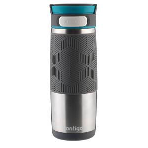 Contigo AUTOSEAL Metra Transit Stainless Steel Travel Mug 470 ML Stainless Steel with Blue