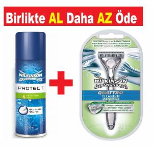 Wilkinson Sword Protect Sensitive Tıraş Jeli 200 ml + Tıraş bıçağı