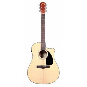 Fender CD-60CE Natural Cutaway Spruce Top Nato Back/Sides Fishman Elektro Akustik Gitar