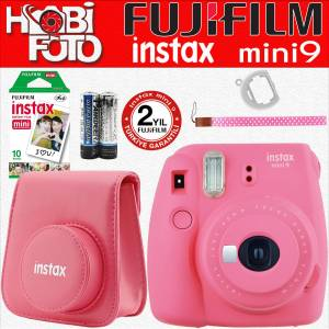 Fujifilm instax Mini 9 Ekonomik Kit (PEMBE) 10'lu Film Set