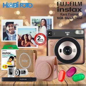 instax SQ 6 Blush Gold  Fotoğraf Makinesi Kit 20'Li Film Set