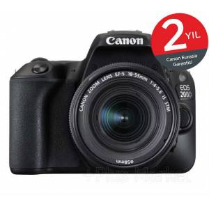 Canon EOS 200d 18-55mm IS STM Wi-Fi� DSLR Fotoğraf Makinesi