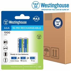 48 Adet Westinghouse AAA 1000mAH 2li Blister Ready to Use NiMH Şarjlı Pil