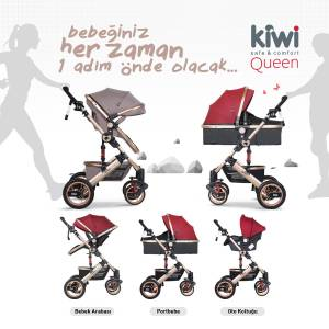 Kiwi Queen 3 In 1 Travel Sistem Bebek Arabası