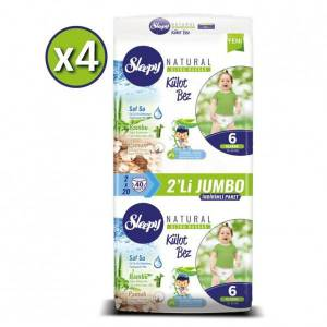 Sleepy Natural Külot Bez XLarge 6 No 40 lı x 4 Adet