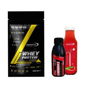 WHEY Protein 450 gr ÇİLEK aromalı +ALL İN ZERO 500 ML+L-CARNİTİN 100 ML HEDİYE
