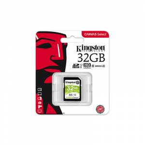 32 GB KINGSTON CANVAS SELECT SDHC UHS-1 CLASS 10 80MB/S (SDS/32GB)