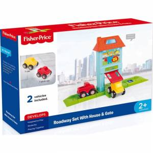 Dolu 1824 Fisher Price Roadway Set With House & Gate