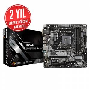 Asrock B450M Pro4 Socket AM4 DDR4 3200MHz+ (OC) Quad CrossFireX Ultra M.2 USB 3.1 Gen1 HDMI DP