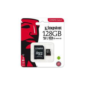 128 GB KINGSTON CANVAS SELECT SDHC UHS-1 CLASS 10 80MB/S (SDS/128GB)