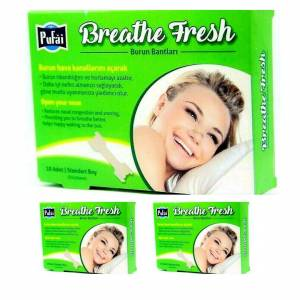 Pufai Breathe Fresh Burun Bandı Standart Boy 55 mm 16 mm 30 Adet 3 Kutu