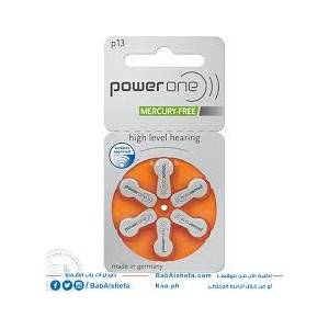 POWERONE 13 NUMARA KULAKLIK PİLİ(MADE IN GERMANY).... 1 KART.... 6 ADET....