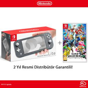 Nintendo Switch Lite Konsol Super Smash Bros Ultimate