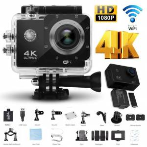 4K Sports Ultra Full HD Wifi 16 MP Aksiyon Kamerası 2 inç Ekran Full Set