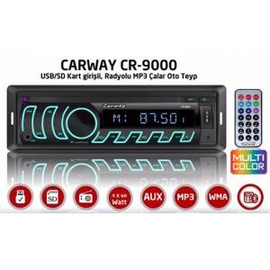 CARWAY CR-9000 BLUETOOTH,FM/SD/ USB/ MMC OTO TEYP
