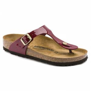 Birkenstock Gizeh Bf Sandalet Magic Snake Bordeaux Terlik 1013629