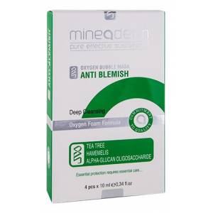 Mineaderm Oxygen Bubble Mask Anti-Blemish 4 x 10 ml