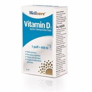 Wellcare Vitamin D3 400 IU 5 ml Sprey