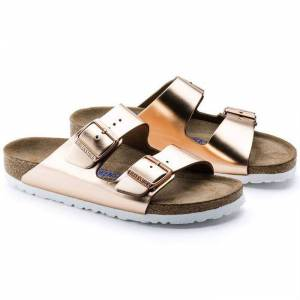 Birkenstock Arizona Nl Metallic Copper Kadın Terlik 952093