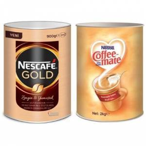 Nescafe Gold 900 Gr + Coffee Mate 2000 Gr
