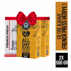 Oze All Day Blend Filtre Kahve 1000 gr French Press Hediyeli