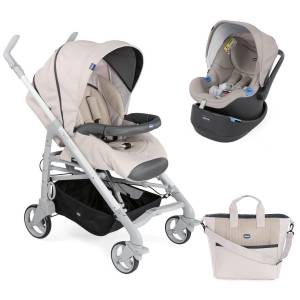 Chicco Duo Love Up İki Yönlü Travel Sistem Bebek Arabası Beige Bej