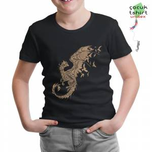 Game of Thrones - Dragons Siyah Çocuk Tshirt